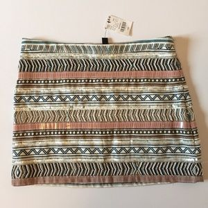 NWT MNG Casual Size 6 Beaded Sequin Mini Skirt